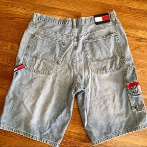 vtg 90s Tommy Hilfiger carpenter jean shorts 36